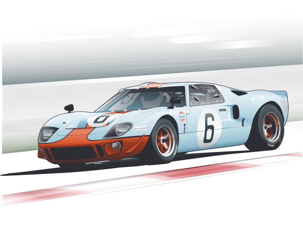 GT40 at speed - PBIR, FL